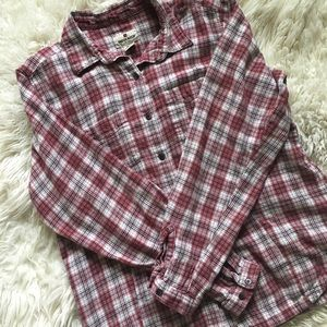Woolrich red long sleeve flannel shirt size L